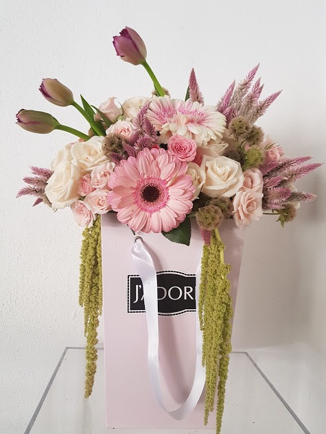 Flores tonos rosa pastel